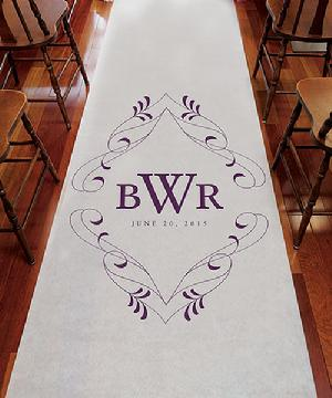 9299FM Flourish Monogram Personalized Aisle Runner
