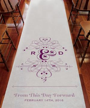 9299FTDF From This Day Forward Personalized Aisle Runner