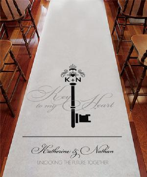 9299KM Key Monogram Personalized Aisle Runner