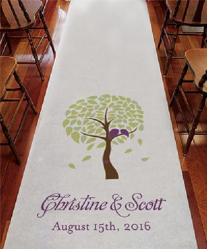 9299LBT Love Bird Tree Personalized Aisle Runner