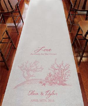 9299RC Reef Coral Personalized Aisle Runner