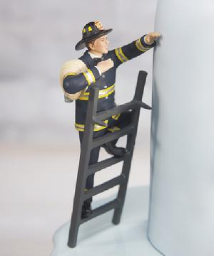 9354 Firefighter Groom Cake Topper
