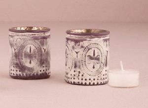 9579 Vintage Glass Votive Holders