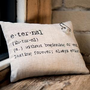 9730 Natural Linen Ring Pillow With Vintage Type