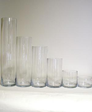 Cylinder Vases - 5 Inch Opening